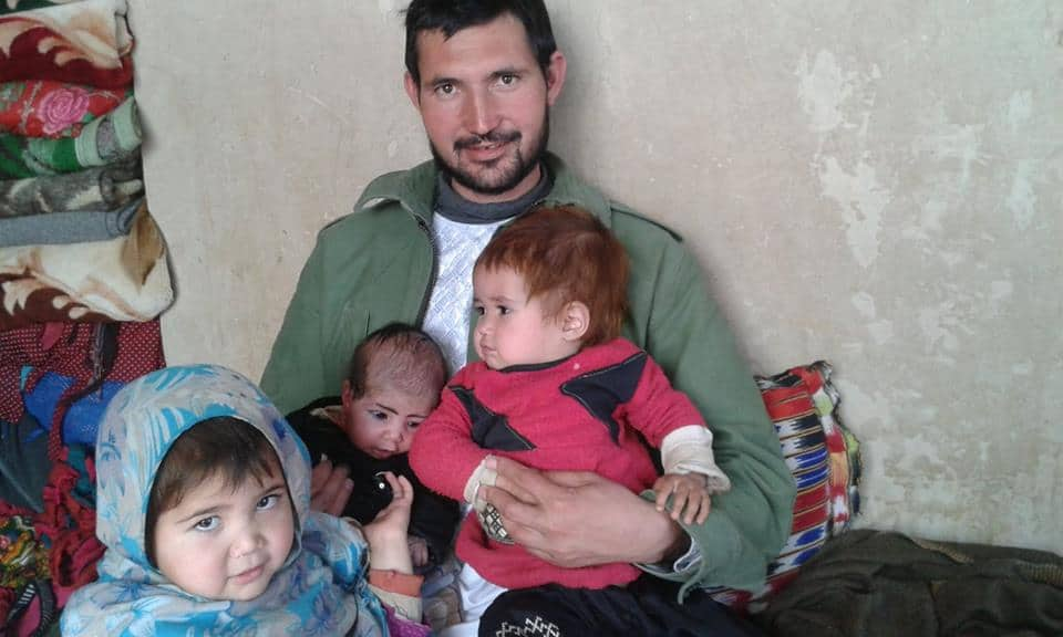 Mohammad Mohammadi with his children