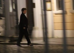 Georgieva returning from the Bilderberg banquet