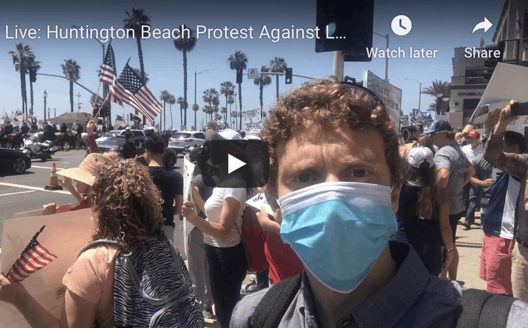 California Residents Protest Coronavirus Lockdown